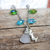 Mermaid Necklace - Sea Glass Jewelry from Hawaii - Mermaid Jewelry - Hawaiian Jewelry - Sea Glass Necklace by Mermaid Tears Hawaii