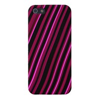 """Pink Lines"" Fractal Art Phone Case"