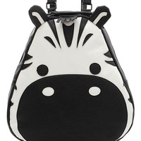 Cute Zebra PU Backpack - OASAP.com