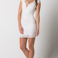 Flower Lace Dress - Off White