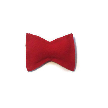 Felt Hair Bow  Red  Rockabilly  Kawaii by AccursedDelights on Etsy