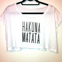 Hakuna Matata Loose Crop Top by OfIvy on Etsy