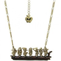 Antique Gold Plated Snow White Seven Dwarves On A Branch Necklace From Disney Couture : TruffleShuffle.com