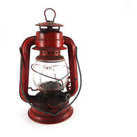Red lantern Dietz Comet made in USA by reconstitutions on Etsy