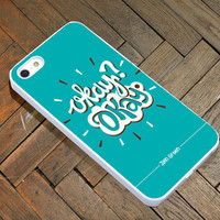 Okay Okay John Green for iPhone 4/4S/5/5S/5C Case, Samsung Galaxy S3/S4 Case