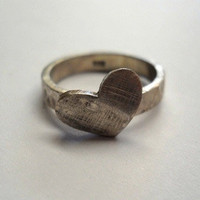 Heart Ring - Rustic - Reduced Shipping Special - | Luulla