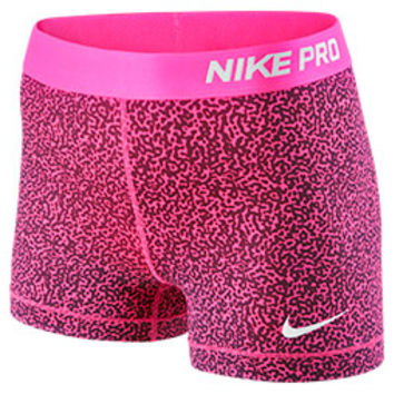 Womenx27s Nike 3 Inch Pro Core Compression Printed Shorts