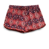 Ruffled Paisley Drawstring Shorts (Kids)