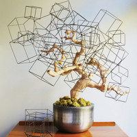 Wire Cube Sculpture