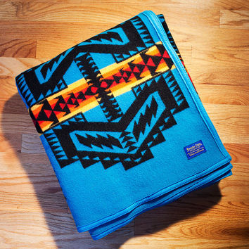 Arapaho Trail Blanket, Turquoise Indian Blanket, Pendleton®