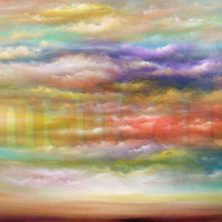 13 x 19 abstract cloud soft impressionist landscape by mattsart