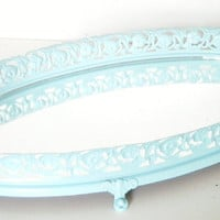 Mirror Vanity Tray Ocean Blue Tray Home Decor by CityGirlsDecor