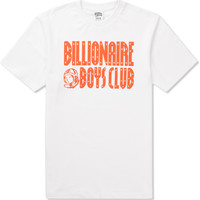 Billionaire Boys Club White/Golden Poppy S/S Straight Logo T-Shirt | HYPEBEAST Store. Shop Online for Men's Fashion, Streetwear, Sneakers, Accessories