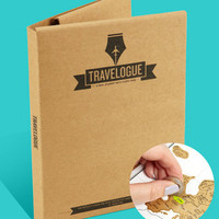 Scratch Map Travel Journal - Travelogue Journal