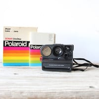 Polaroid Sonar One Step Polaroid Camera w/ Manual