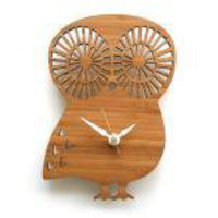 Bamboo Baby Owl Clock
