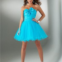 Mini short blue tulle straps Prom Dresses 2012 PDM267