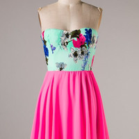 Feeling Romantic Dress - Pink - Hazel & Olive