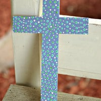 Hand Painted Cross by MisceFabulous on Etsy