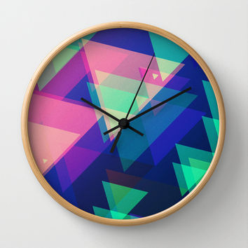 TRIANGLES Wall Clock by Nika