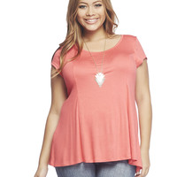 Splice Back Soft Tee | Wet Seal +
