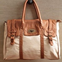Long Journey Canvas Satchel | Modern Vintage Purses