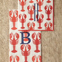 Caspari Lobster Cocktail Napkins & Guest Towels