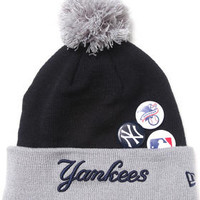 New York Yankees Button Up Knit Hat