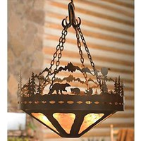 Bear Family Chandelier - 36 Inch