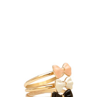 FOREVER 21 Painted Bow Ring Set