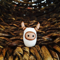 Horned Tieke - Polymer Clay Animal Totem