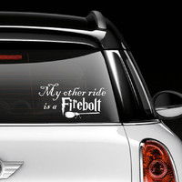 Harry Potter  My other ride is a Firebolt  Window by GoodMommyLtd