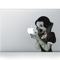 Zombie Snow WhiteMac Decal Macbook Stickers by iangelsticker