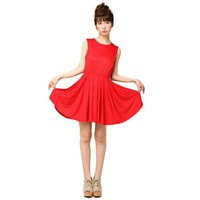 Bqueen Chiffon Dress Red BY261R - Designer Shoes|Bqueenshoes.com