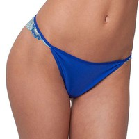 Candie's Microfiber Cross-Dye Thong - Juniors