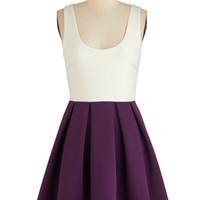 ModCloth Sleeveless A-line Casually Captivating Dress in Aubergine