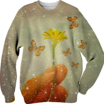 Butterflies Charmer Sweatshirt created by Rudimencial Design | Print All Over Me