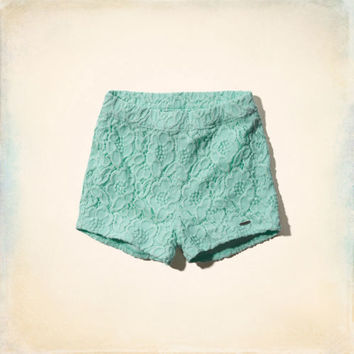 Hollister High Rise Lace Shorts