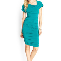 Asymmetrical Knotted Sheath Dress