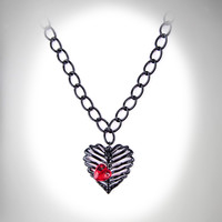 Rib Cage Heart Necklace