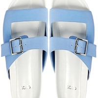 ASOS FOLD UP Sliders - Blue/white