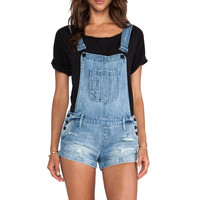 Black Orchid Overall Short in Blue