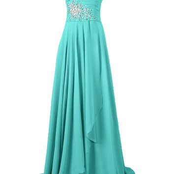 Sunvary Chiffon One Shoulder Bridesmaid Dresses Prom Gowns Long