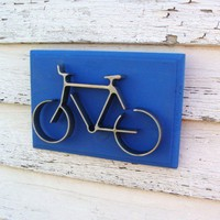 Metal Art Bicycle Wall Decor Iron Bike Art by baconsquarefarm
