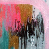 original small abstract painting aceo -a small story