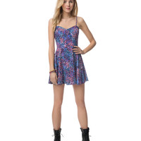 SUNSET FLORAL RAYON DRESS