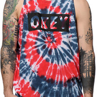 Obey Dive Bar Americana Spiral Tank Top