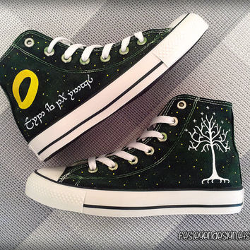 Your Name in Elvish 'Custom Converse' /  the Lord of the Rings  / Elf