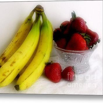 Strawberry Banana Still Life Acrylic Print