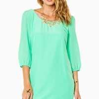 LIZA SHIFT DRESS IN MINT